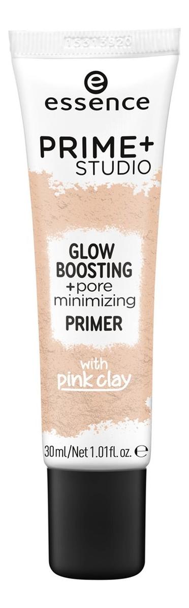 Праймер для лица Prime+ Studio Glow Boosting+Pore Minimizing Primer 30мл smashbox photo finish pore minimizing primer