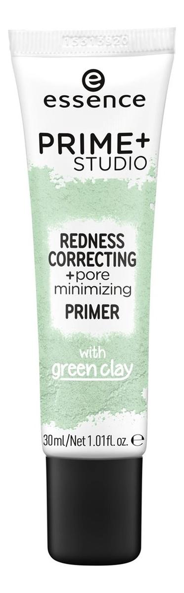 Праймер-корректор покраснений для лица Prime Studio Redness Correcting Pore Minimizing Primer With Green Clay 30мл недорого