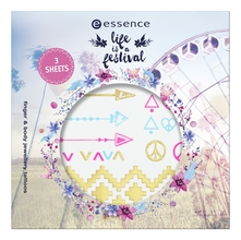 essence Наклейки-тату для тела Life Is A Festival Finger And Body Jewellery Tattoos