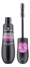 essence Тушь для ресниц I Need A Miracle! Volumizing & Strengthening Mascarа Black 16мл