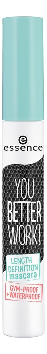 Водостойкая тушь для ресниц You Better Work! Length Definition Mascara Gum-Proof Waterproof Black 10мл