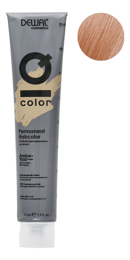 Купить Стойкий крем-краситель для волос на основе протеинов риса и шелка Cosmetics IQ Color Permanent Haircolor 90мл: 10.04 Extra Light Natural Copper Blonde, Dewal