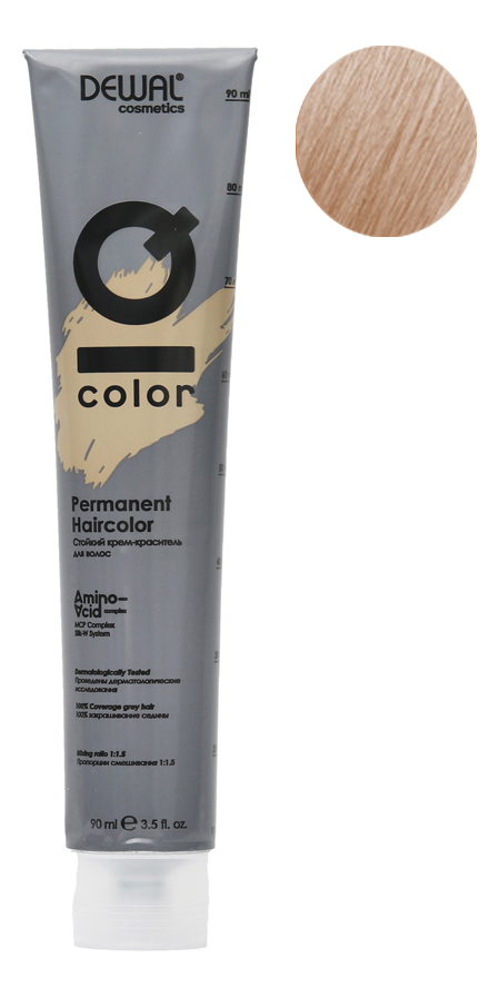Стойкий крем-краситель для волос на основе протеинов риса и шелка Cosmetics IQ Color Permanent Haircolor 90мл: 11.10 Ultra Light Ash Blonde фото