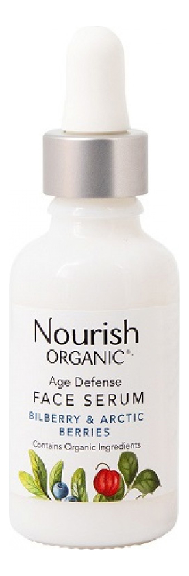 Антивозрастная сыворотка для лица с экстрактом арктических ягод Organic Age Defense Face Serum 20мл