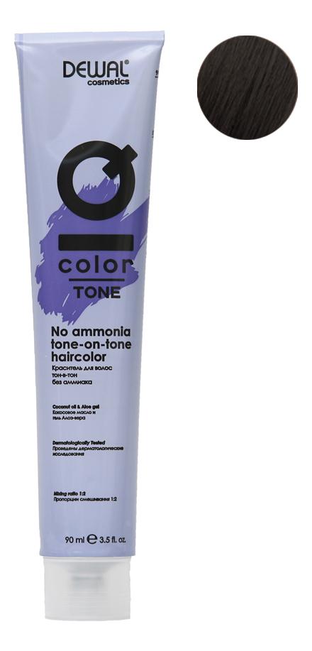 Краситель для волос Тон-в-тон с кокосовым маслом без аммиака Cosmetics IQ Color Tone Haircolor 90мл: 4.10 Ash Brunette кислотный тонер для волос color sync acidic toner sheer 90мл brunette ash