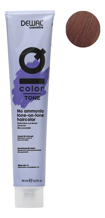 Краситель для волос Тон-в-тон с кокосовым маслом без аммиака Cosmetics IQ Color Tone Haircolor 90мл: 8.32 Light Gold Pearl Blonde
