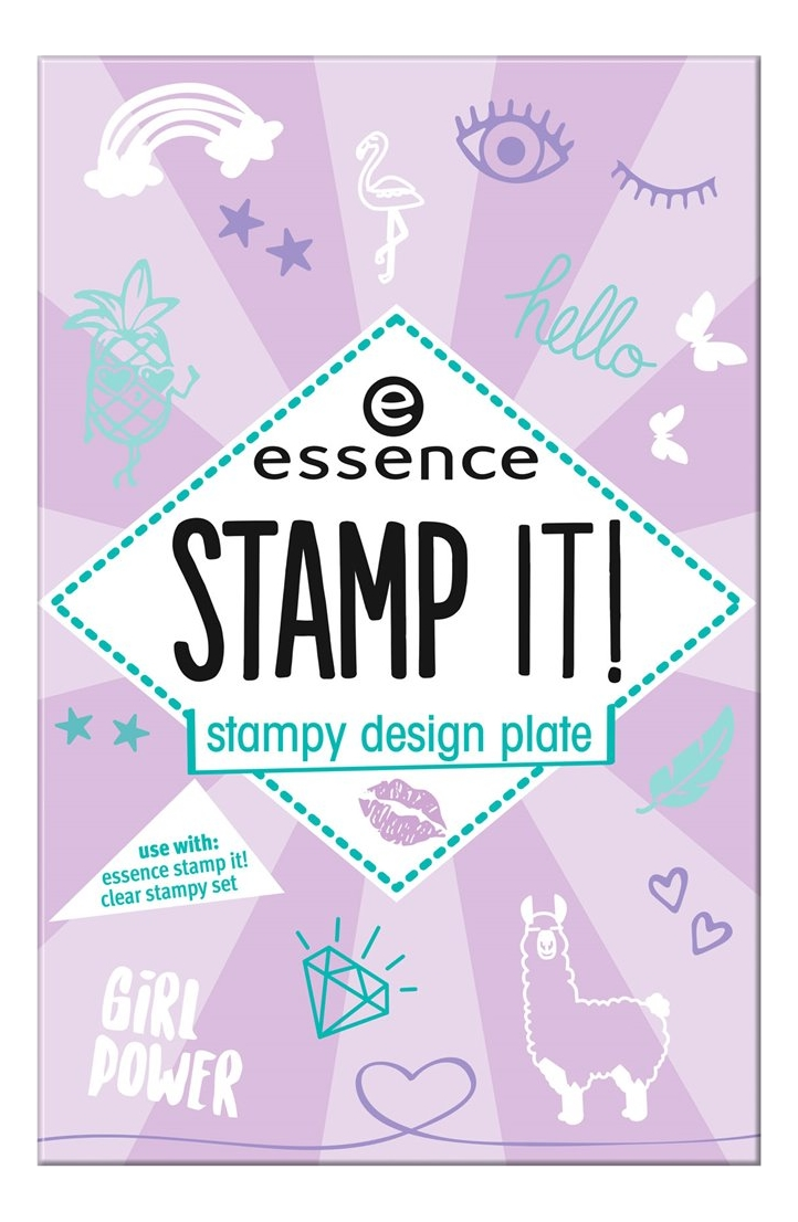 Трафареты для дизайна ногтей Stamp It! Stampy Design Plate No01 Nails Just Wanna Have Fun!