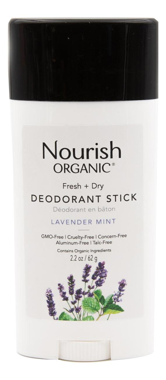 Купить Дезодорант для тела с экстрактом мяты и лаванды Organic Fresh + Dry Deodorant Stick 62г, Nourish