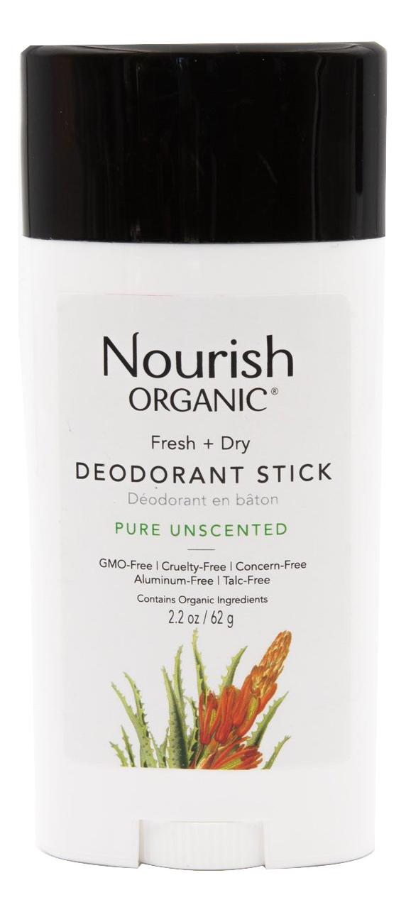 Дезодорант для тела без запаха Organic Fresh + Dry Deodorant Stick 62г
