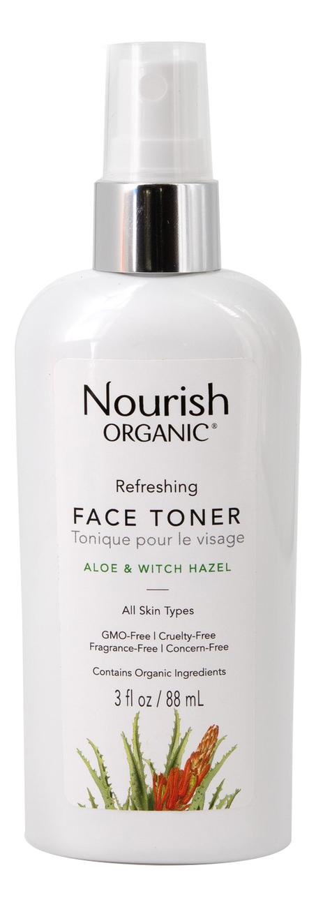 Освежающий тоник для лица с экстрактом алоэ и гамамелиса Organic Refreshing Face Toner 88мл