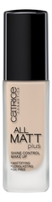 Catrice Cosmetics Тональная основа для лица All Matt Plus Shine Control Make Up 30мл