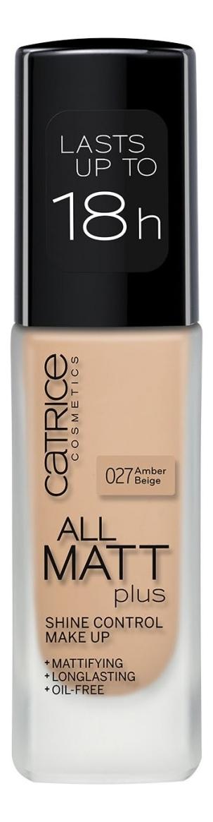 Купить Тональная основа для лица All Matt Plus Shine Control Make Up 30мл: 027 Amber Beige, Catrice Cosmetics