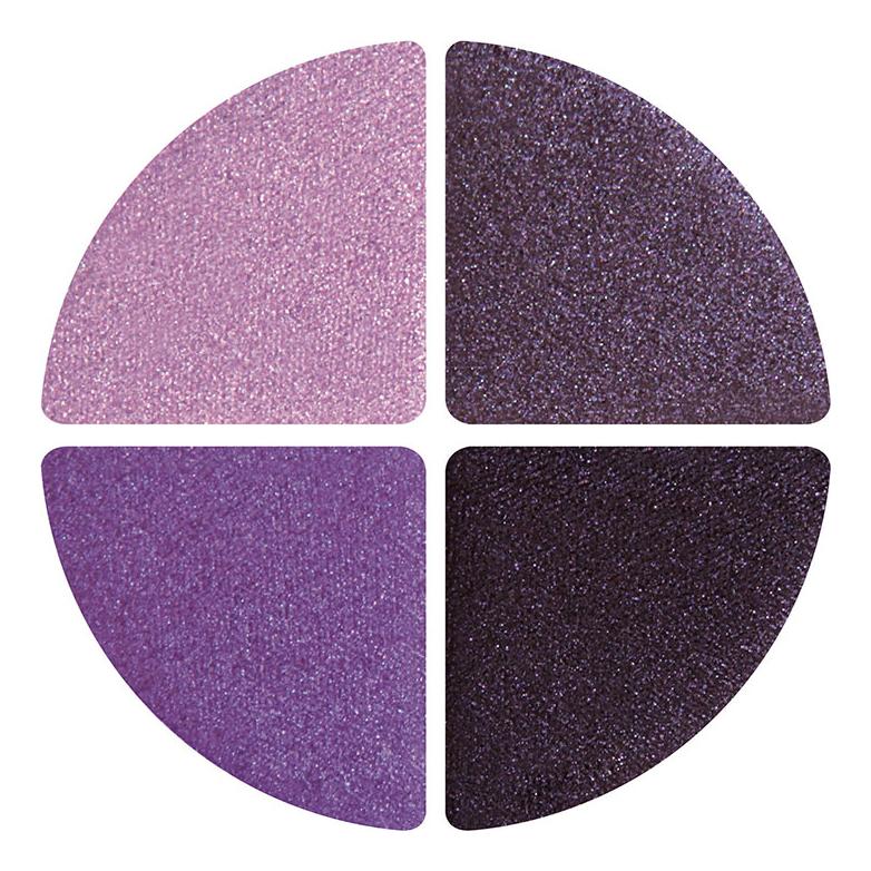 Палетка теней для век в золотом футляре Diamond Eyes Quad Pallette: 404 Violet, Love & Life