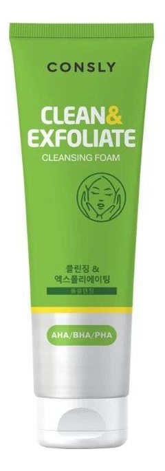 Пенка для умывания с AHA, BHA, PHA кислотами Clean & Exfoliate Cleansing Foam 120мл недорого