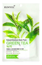 EUNYUL Тканевая маска для лица с экстрактом зеленого чая Natural Moisture Mask Pack Green Tea