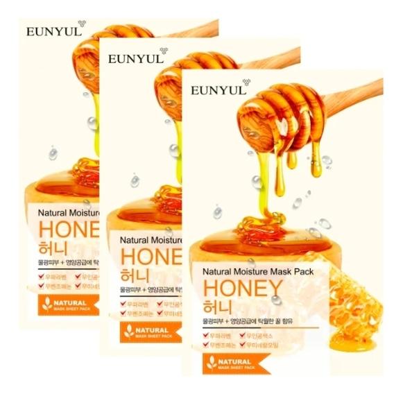 Купить Тканевая маска для лица с экстрактом меда Natural Moisture Mask Pack Honey: Маска 3*22мл, EUNYUL