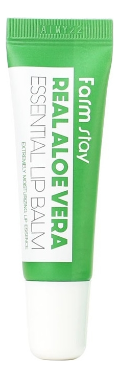 Фото - Бальзам для губ с экстрактом алоэ вера Real Aloe Vera Essential Lip Balm 10мл бальзам для губ lip balm tube strawberry 10мл