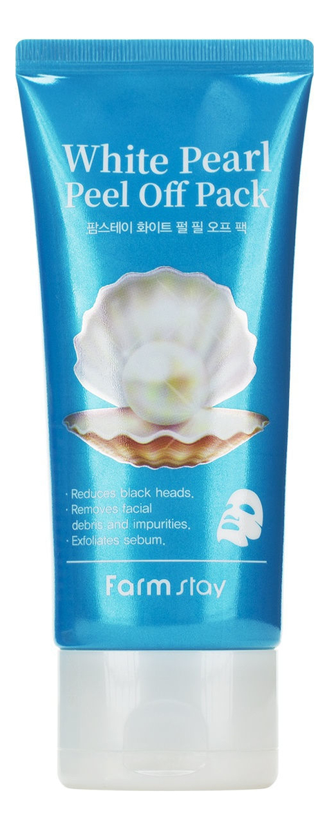Очищающая маска-пленка для лица с жемчуга White Pearl Peel Off Pack 100г недорого