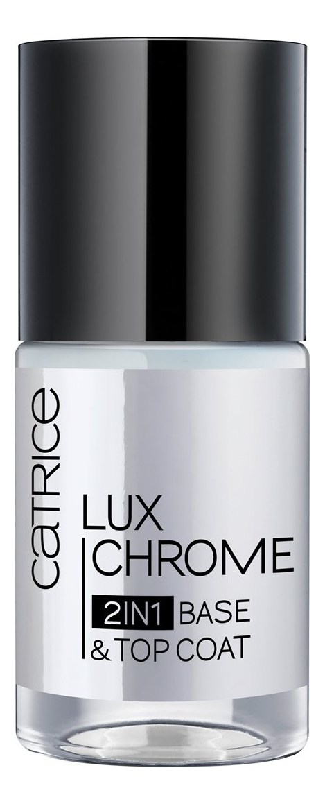 Базовое и верхнее покрытие для ногтей Lux Chrome 2 in 1 Base & Top Coat 10мл