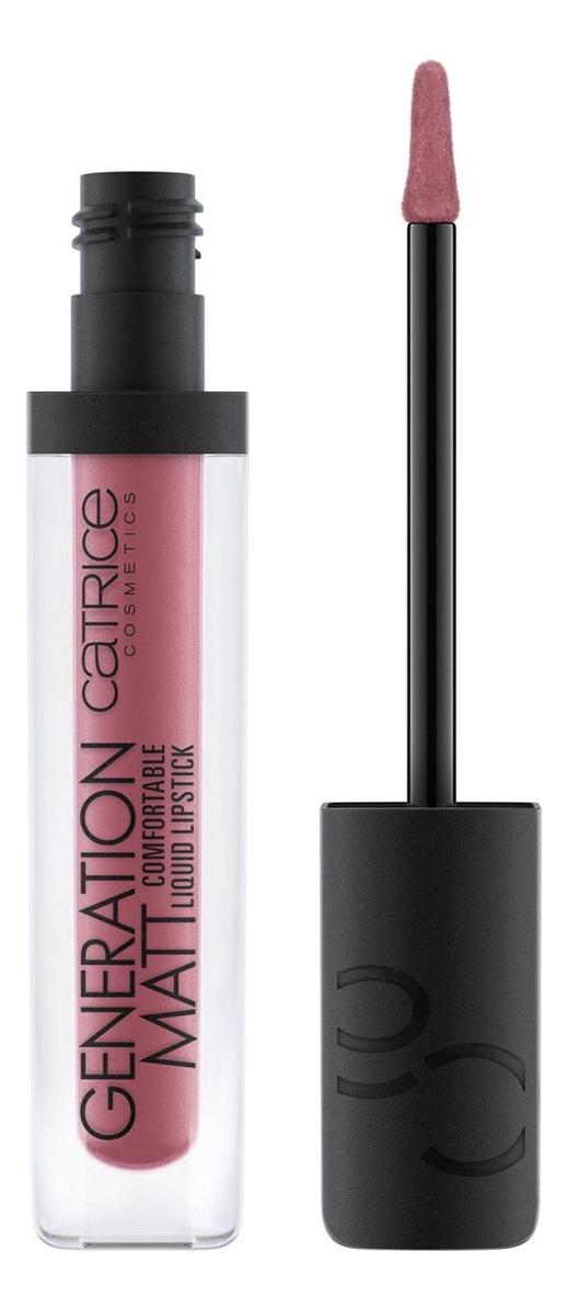 Жидкая матовая помада для губ Generation Matt Comfortable Liquid Lipstick 5мл: 080 Pillow Fight