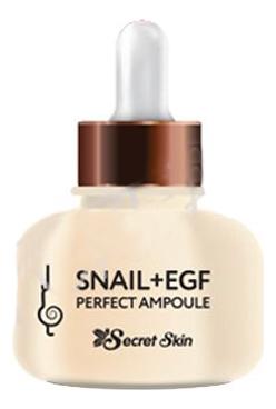 Сыворотка для лица с муцином улитки Snail + EGF Perfect Ampoule 30мл beauty style лифтинг терапия snail treatment кислородная с молочком улитки 6 ампул 5мл 6 масок 30мл
