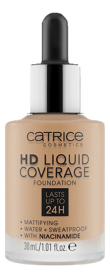 Тональная основа для лица HD Liquid Coverage Foundation 30мл: 002 Porcelain Beige недорого