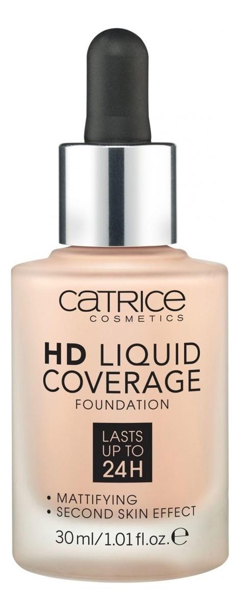 Тональная основа для лица HD Liquid Coverage Foundation 30мл: 010 Light Beige недорого