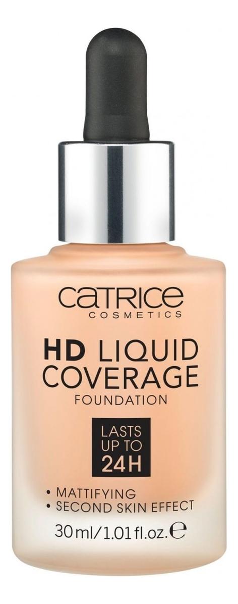 Тональная основа для лица HD Liquid Coverage Foundation 30мл: 030 Sand Beige недорого