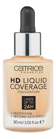 Тональная основа для лица HD Liquid Coverage Foundation 30мл: 034 Medium Beige тональная основа mac cosmetics тональная основа next to nothing face colour medium dark цвет medium dark variant hex name ffbb87