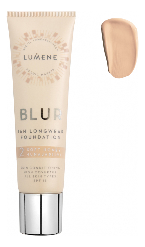 Устойчивый тональный крем Blur 16H Longwear Foundation SPF15 30мл: 2 Soft Honey устойчивый тональный крем blur 16h longwear foundation spf15 30мл 1 classic beige