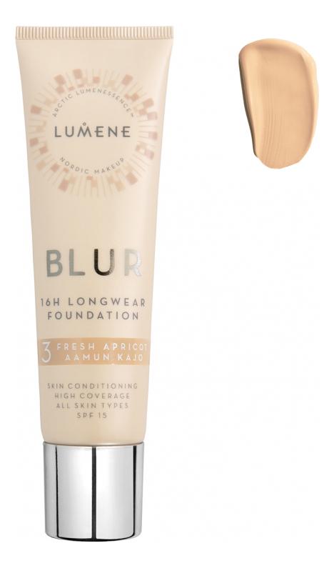 Устойчивый тональный крем Blur 16H Longwear Foundation SPF15 30мл: 3 Fresh Apricot устойчивый тональный крем blur 16h longwear foundation spf15 30мл 1 classic beige