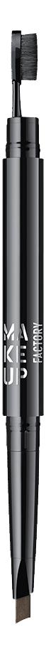 Автоматический карандаш для бровей Triangle Brow Styler: 10 Dark Sepia make up factory карандаш для