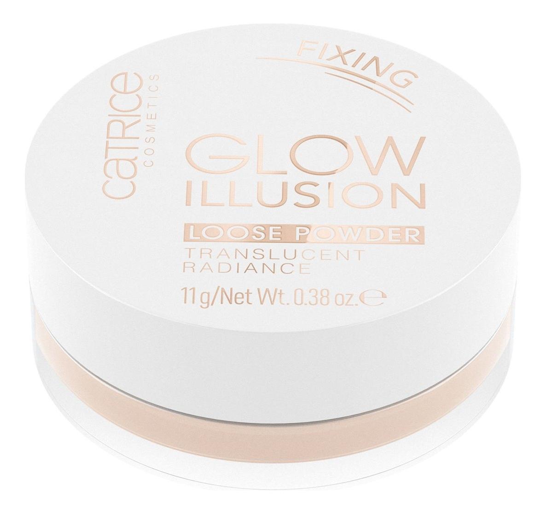 Рассыпчатая пудра для лица Glow Illusion Loose Powder Translucent Radiance 11г цена 2017