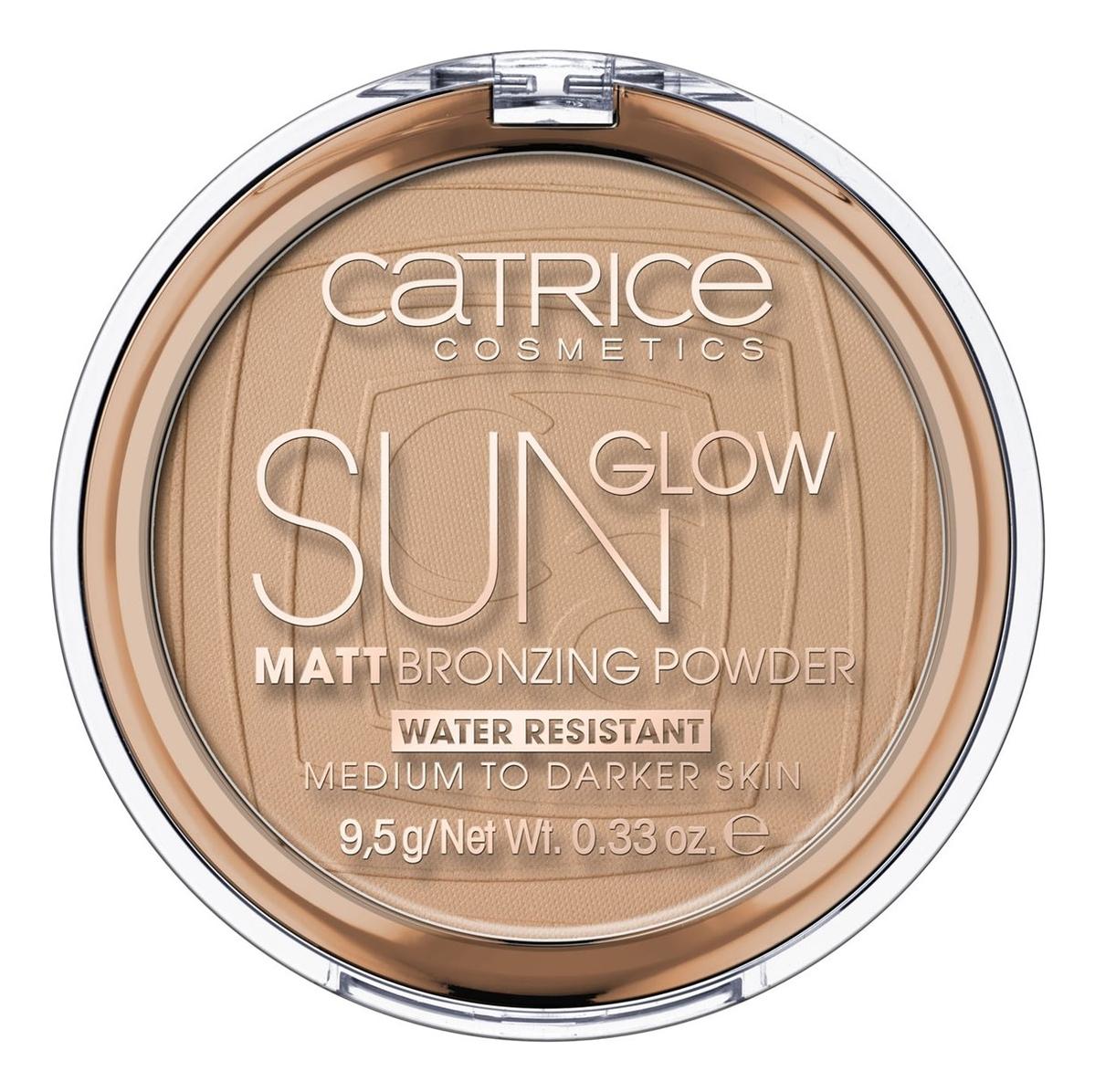 Матирующая пудра для лица с эффектом загара Sun Glow Matt Bronzing Powder 9,5г: 035 Universal Bronze недорого