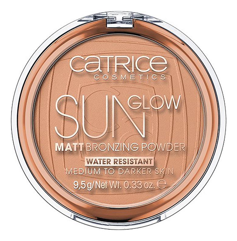 Матирующая пудра для лица с эффектом загара Sun Glow Matt Bronzing Powder 9,5г: 030 Medium Bronze недорого