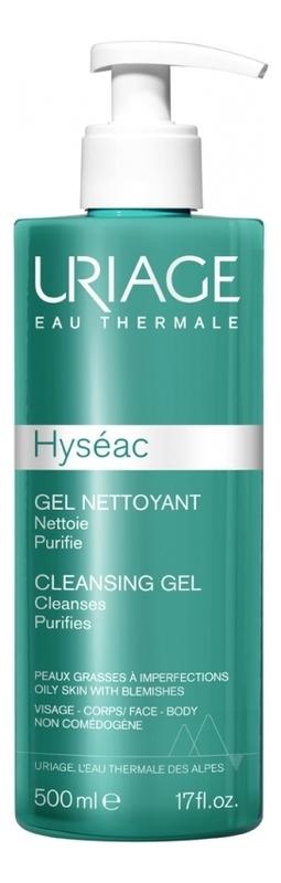 Мягкий очищающий гель для лица Hyseac Gel Nettoyant: Гель 500мл uriage hyseac gel