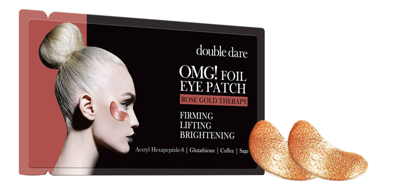 Патчи для области вокруг глаз Foil Eye Patch Rose Gold Therapy 2шт