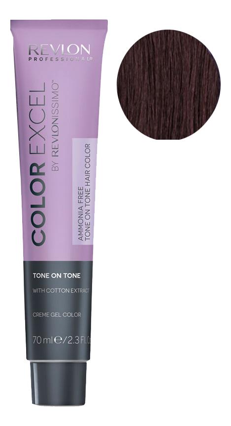 Фото - Крем-гель краска для волос Color Excel by Revlonissimo 70мл: 4.42 Темный Каштан крем гель краска для волос color excel by revlonissimo 70мл 6 3 светлый золотисто ореховый