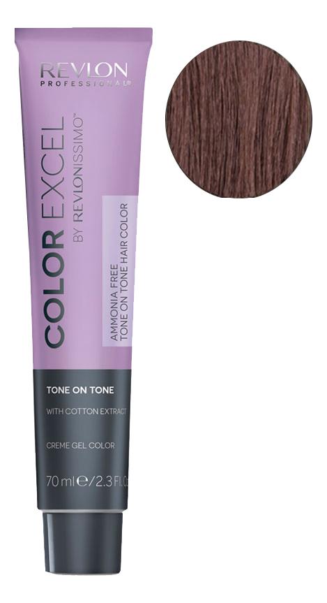 Фото - Крем-гель краска для волос Color Excel by Revlonissimo 70мл: 5.25 Шоколадно-ореховый крем гель краска для волос color excel by revlonissimo 70мл 6 3 светлый золотисто ореховый