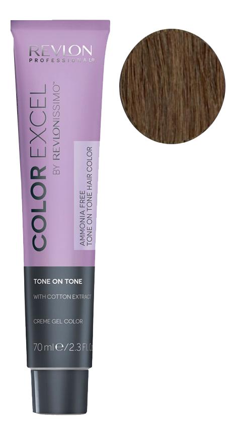 Фото - Крем-гель краска для волос Color Excel by Revlonissimo 70мл: 5.34 Ореховый крем гель краска для волос color excel by revlonissimo 70мл 6 3 светлый золотисто ореховый