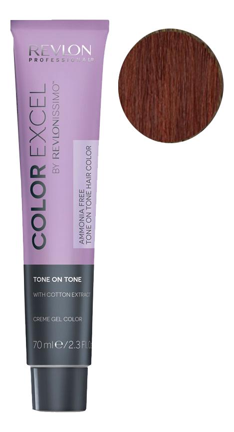 Фото - Крем-гель краска для волос Color Excel by Revlonissimo 70мл: 5.40 Медный интенсивный крем гель краска для волос color excel by revlonissimo 70мл 6 3 светлый золотисто ореховый