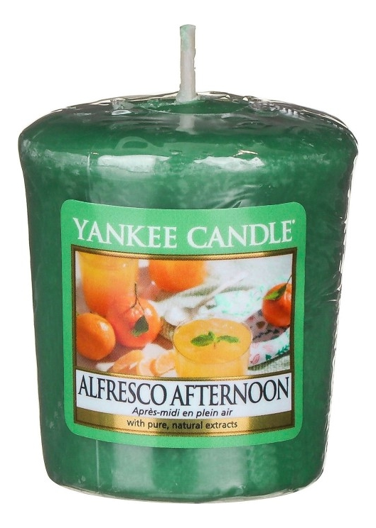 Купить Ароматическая свеча Alfresco Afternoon: Свеча 49г, Yankee Candle