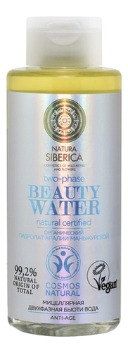Мицеллярная двухфазная бьюти вода Beauty Water Natural Certified 300мл