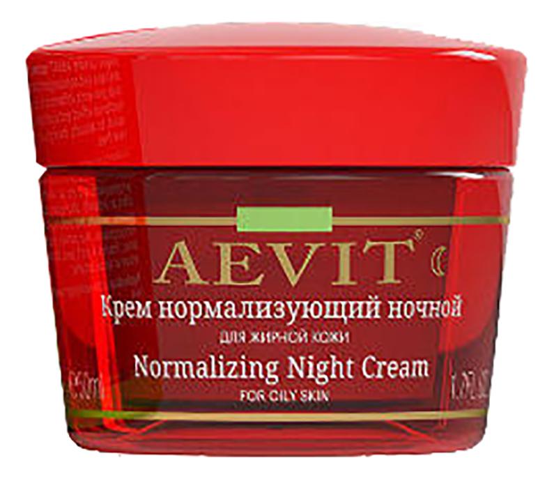 Фото - Нормализующий ночной крем для лица Aevit Normalizing Naght Cream 50мл aevit ночной крем для лица нормализующий для жирной кожи 50 мл