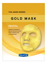 Milatte Витаминная тканевая маска для лица Gold Mask Revital 23г