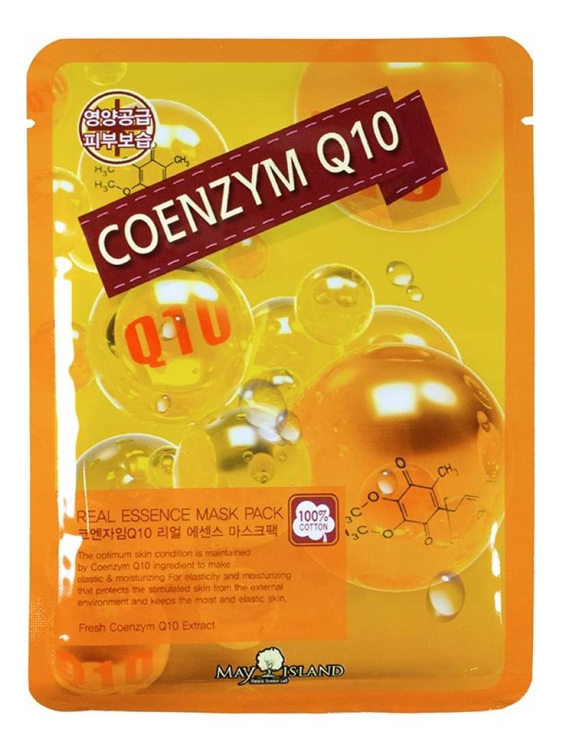 Купить Тканевая маска для лица Real Essence Coenzyme Q10 Mask Pack 25мл, May Island