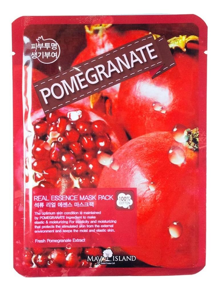 Купить Тканевая маска для лица Real Essence Pomegranate Mask Pack 25мл, May Island