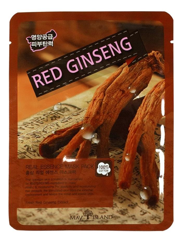 Купить Тканевая маска для лица Real Essence Red Ginseng Mask Pack 25мл, May Island