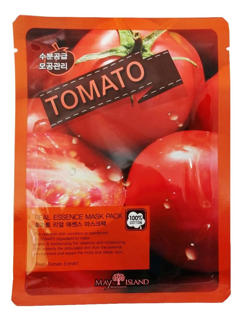 Купить Тканевая маска для лица Real Essence Tomato Mask Pack 25мл, May Island