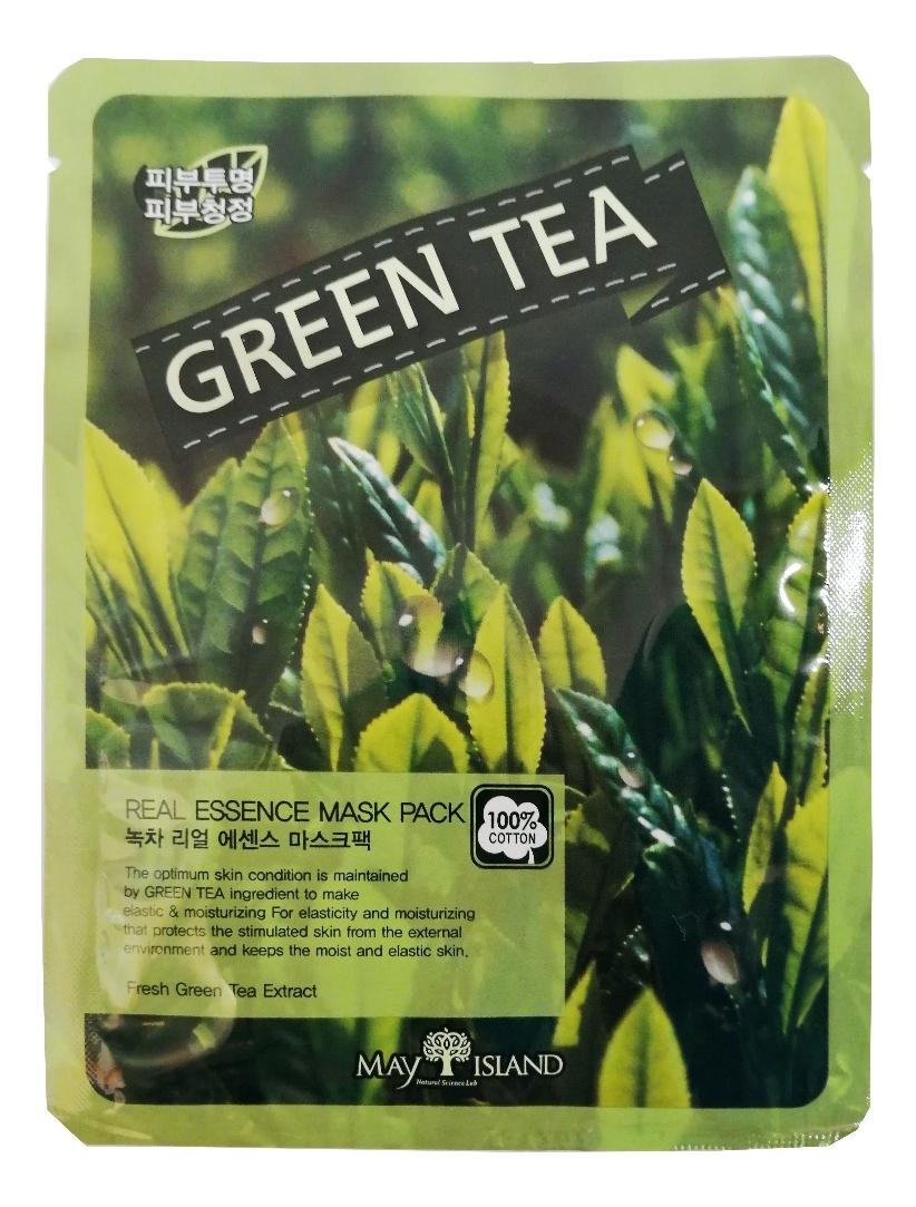 Купить Тканевая маска для лица Real Essence Green Tea Mask Pack 25мл, May Island